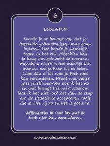 Inspiratiekaarten Loslaten kaart 6 Medium Bianca.nl